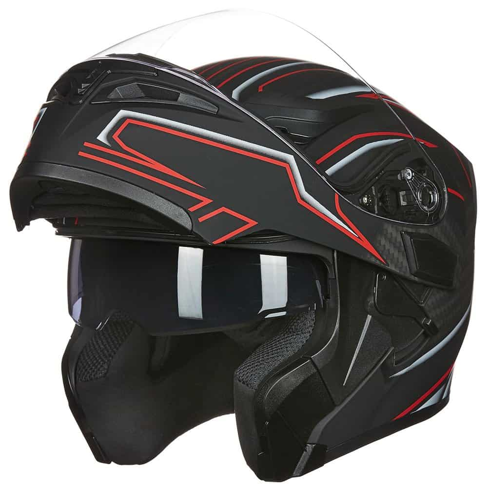 ILM Flip Up Modular Motorcycle Helmet with Dual Visor